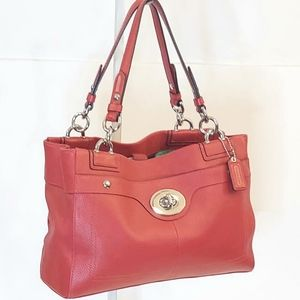 Coach Penelope Red Leather Satchel Bag!
